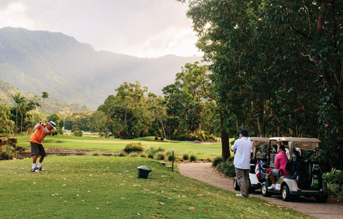 golfing tour cairns group paradise palms golf course half moon bay centre gordonvale