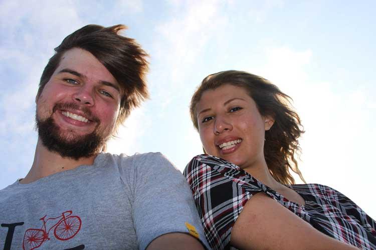 selfie 2 people